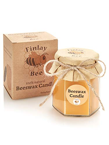 Finlay Bee Pure Beeswax Candle - eco friendly ethically sourced fill your...