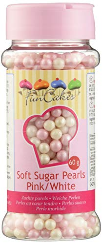 FunCakes, Sprinkle para repostería (Rosa y blanco) - 60 gr.
