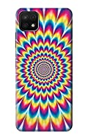 JP3162A25 カラフルなサイケデリック Colorful Psychedelic For Samsung Galaxy A22 5G 用ケース