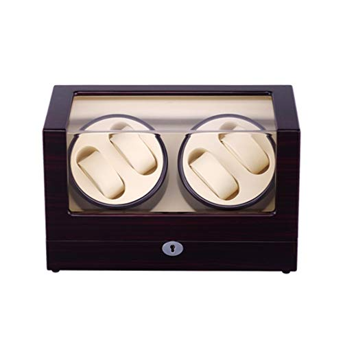 CHYOOO Reloj Caja Caja de Enrollador de Relojes de Rotación Automática, Visor de Vidrio acrílico,Motor Calidad,5 Modos de Rotación Caja Almacenamiento Reloj