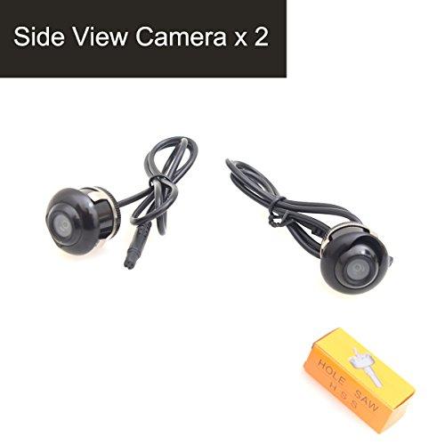 CoCar Auto PKW Paar Seitenkamera Seitenspiegel Montage 360-Grad Schwenkbar Flush Mount Spiegelbild Nein Distanzlinien Einparkhilfe - Packung mit 2 12V