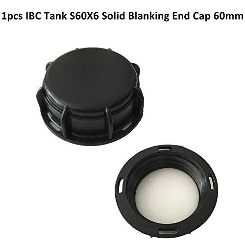 BE-TOOL IBC Tankarmatur, IBC Tankzubehör Endkappe S60X6 60 mm grobes Gewinde IBC Tote Tankdeckel, schwarz