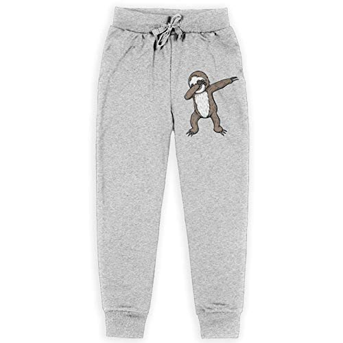 Just life Funny Sloth Kids Jogging Pantalones de chándal Pantalones de chándal elásticos Pantalones de Entrenamiento Negro