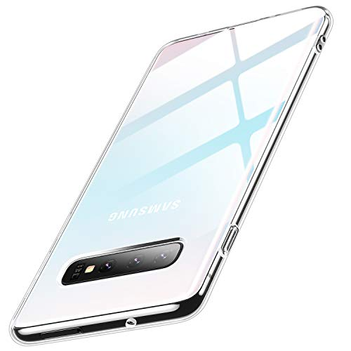 Humixx Kompatibel mit Samsung Galaxy S10 Plus Hülle,Premium Anti-Gelb TPU Silikon Ultra Dünn Transparent Handyhülle,Stoßfest Crystal Clear Slim Soft Schutzhülle für Galaxy S10 Plus(6,4 Zoll)- Klar