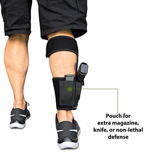 1. Concealed Carrier (TM Ankle Holster for Concealed Carry Pistol | Universal Leg Carry Gun Holster)