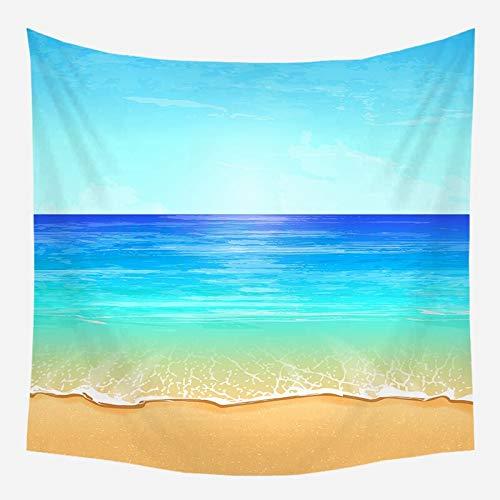 Sol mar tapiz océano playa colgante de pared paisaje de agua playa nube azul espuma azul colgante de pared tela de fondo A6 130x150cm