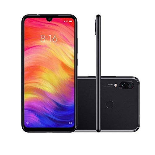 "Xiaomi Redmi Note 7 128GB + 4GB RAM 6.3"" FHD+ LTE Factory Unlocked 48MP GSM Smartphone (Global Version, No Warranty) (Space Black)"