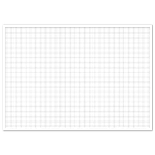 Karierte Schreibtischunterlage zum Beschreiben und skizzieren I DIN A2 I 40 Blatt I zum Abreißen I Mathematisches Papier mit Linienstruktur I für Büro und Schule I dv_929