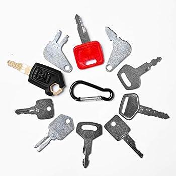 Aree 10 Keys Heavy Equipment Construction Key Set/Construction Ignition Keys Sets  10 Keys Set