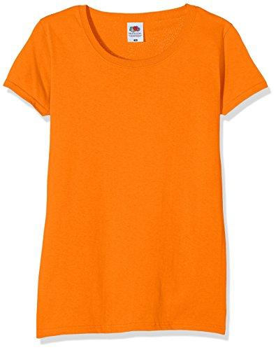 Fruit of the Loom Ss129m, Camiseta Para Mujer, Naranja, L (Talla fabricante 14)