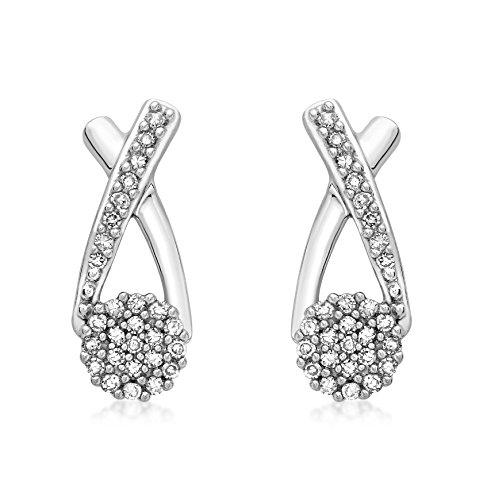 Carissima Gold Damen-Ohrringe 9 Karat (375) Weißgold Rundschliff Diamant