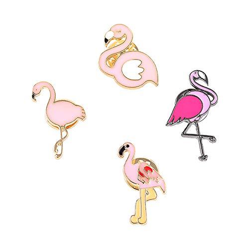 SloveM Pink Flamingo Brooch Enam...