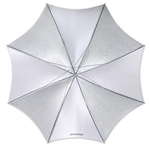 Westcott - Paraguas de iluminación para fotografía (109 cm), Color Plata