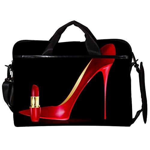 Lurnies Roter High Heels Lippenstift Laptoptasche Rucksack Computer Tasche einzigartig Bedruckt Kompatibel mit 13-13,3 Zoll MacBook Pro, MacBook Air® Notebook-Computer 11 x 15 Zoll