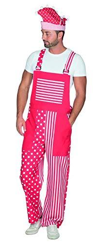 Rubies 14259 - Latzhose rot-weiß S - XXL Karneval Uniform Hose mit Mustern (S)