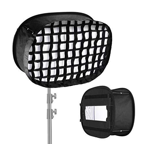 Neewer Difusor Softbox Panel Luz LED con Rejilla para Luz LED 960 Apertura Interna 40x18cm Ventana Emergente 59x40cm Plegable con Accesorio Correa y Bolsa de Transporte para Grabación Video Estudio
