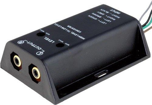 Audioproject A111 - High-Low Adapter Converter für Auto-Radio Endstufe - Lautsprecher-Kabel auf Cinch Stecker Verstärker Subwoofer hi Level regelbar