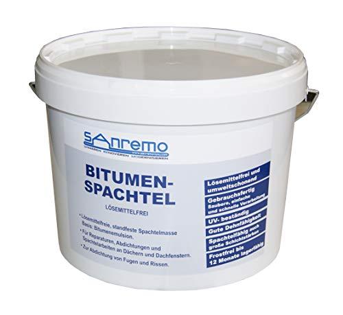 (2,37€/kg) Sanremo BITUMENSPACHTEL lösemittelfrei Spachtelmasse Bitumen Abdichtung 10kg