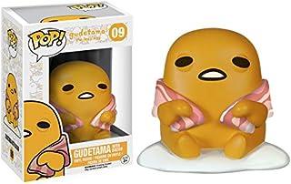 Funko Gudetama w/ Bacon: Gudetama The Lazy Egg x POP! Sanrio Vinilo Figura & 1 POP! Paquete de protectores gráficos de plástico PET compatibles [#009 / 06816 - B]