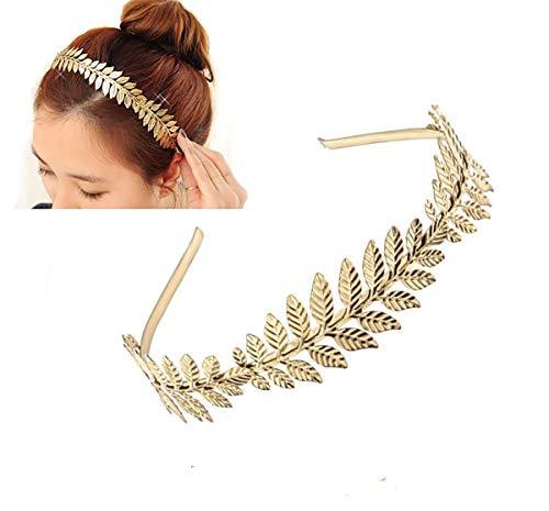 Diadema para el pelo con hojas de laurel romanas griegas para mujer,...