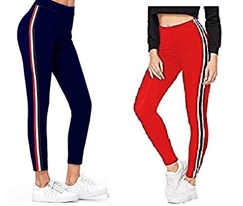 HELISHA ® Women's Gym wear Leggings Ankle Length Side Strip...