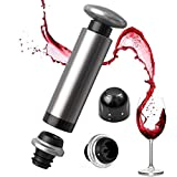 [Eco Space] ワイン・シャンパン ストッパー 5個ギフトセット 日付スケール付き バキュームポンプ CJ-JS05
