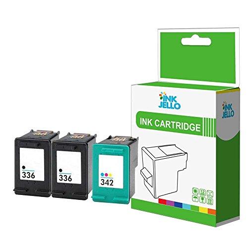 inkjello Kompatible Tinten patrone Ersatz für HP Photosmart 80508050x i C3100C3110C3125C3135C3140C3150C3170C3173C3175C3180C3183C3188336/342(schwarz, Farbe (3er Pack)