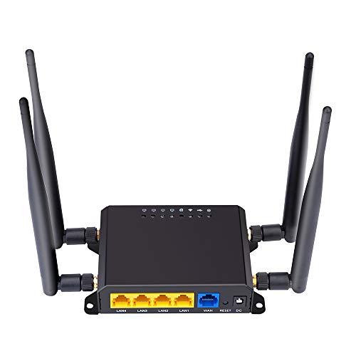 Fesjoy X10 4G LTE OpenWRT Smart Router Extender Tarjeta SIM de Alta Potencia WiFi Inalámbrico Externo 5dbi Antena Módem 300Mbps Qualcomm Chip CPE Versión UE