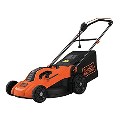 "BLACK+DECKER BEMW213 20"" Electric Lawn Mower, 13-Amp, Orange"