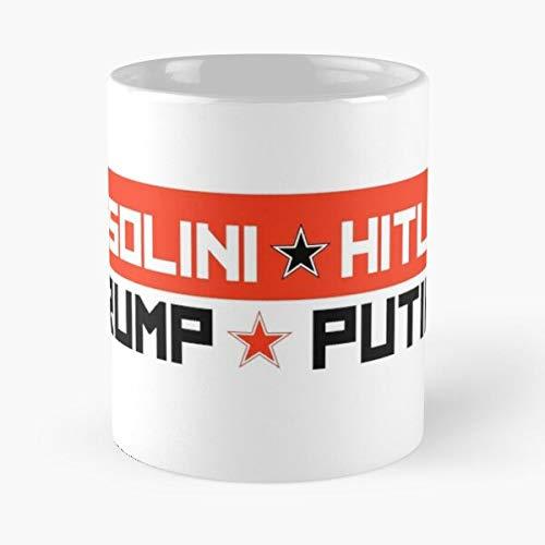 5TheWay and Mussolini Mug Trump Sticker Putin Hitler Bumper Standardkaffee 11 Unzen Geschenk Tassen für alle