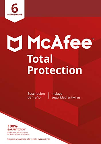 McAfee | Total Protection | 6 Dispositivo | 1 Usuario | 12 Meses | PC/Mac | Código de activación enviado por email