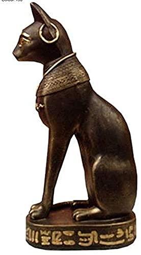 Figura decorativa de gato hecho a mano, pintada a mano, histórica, farao, mitología egipcia