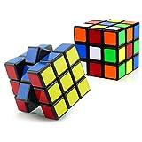 Classic Magic Cube 2.2' Puzzle 3x3 Smart Cube Educational Game Brain Teaser (2 PCS-3x3 Cube)