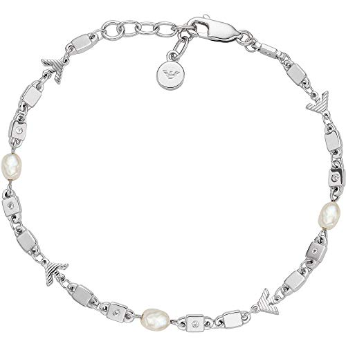 Emporio Armani EG3474040 - Pulsera de plata de ley para mujer