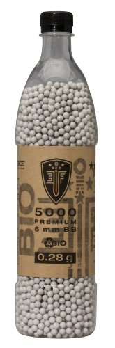 Elite Force Premium Biodegradable 6mm Airsoft BBS Ammo.20 Gram, 5000 Count