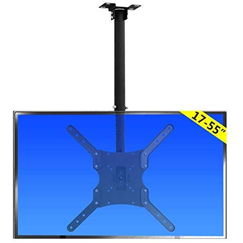 Soporte para TV, Soporte de Montaje para TV en el Techo, Soporte para TV en Techo Ajustable en Altura se Adapta a la mayoría de Pantallas de Monitor de Plasma LED LCD de 17-55 '' hasta 400x400