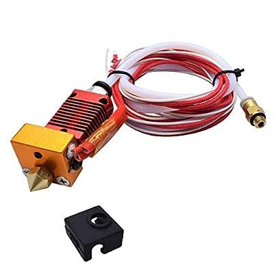 Extruder Original 3D Printer Assembled MK8 Hot End Sprinkler Kit for Creality CR10 hotend,CR-10S,CR-10S4,CR-10S5,1.75mm filament 0.4mm nozzle 12V 40W heating NTC thermistor