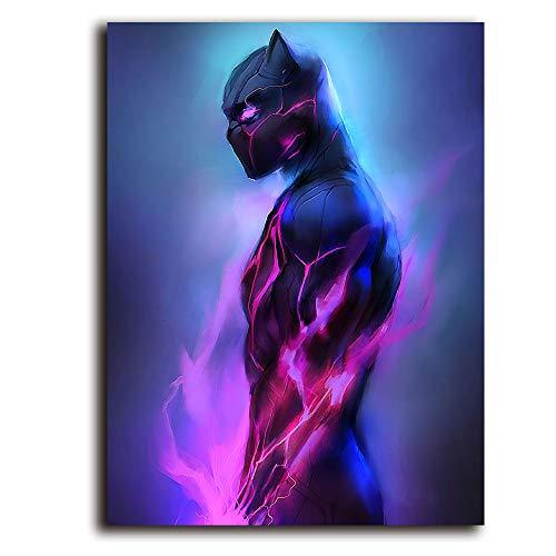 Lienzo de superhéroe Avenger de 61 x 91 cm, diseño de pantera...
