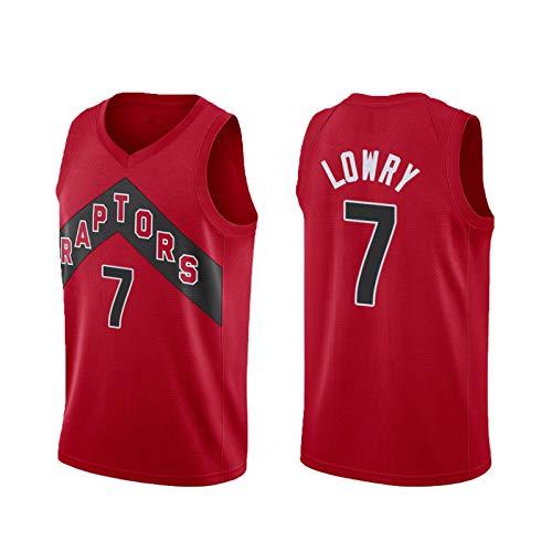 QGGQ Rockets 7# Lowry Basketball Jersey Camiseta de los Hombres Sudadera sin Mangas Camisa sin Mangas Chaleco de Fitness, Juego competitivo Juegos de Pelota Impresión de Red-L