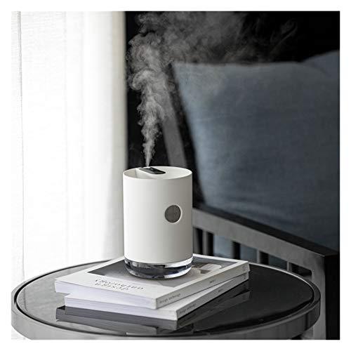 CGRTART 1L Humidificador de Aire USB Niebla Fresca 3000mAh batería humidificador Difusor de Aceite Esencial (Color : White)