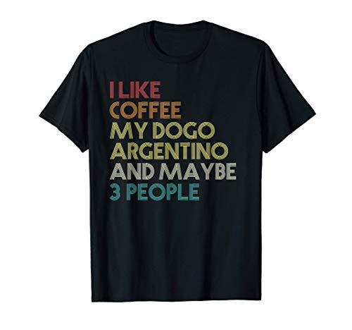 Dogo Argentino Cane Dog Caffè Vintage Retro Maglietta