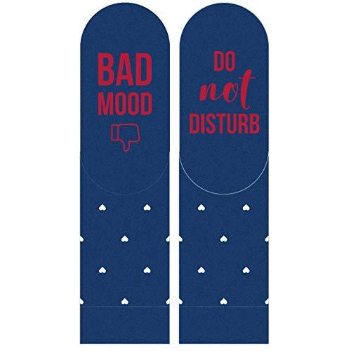 soxo Witzige Wein Socken mit Aufschrift | Bad Mood Do Not Disturb | Damen Socken | ideale Geburtstag Gastgeberin oder Housewarming Geschenkidee