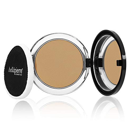bellapierre 5-in-1 Compact Mineral Foundation SPF 15 | All-Natural Vegan & Cruelty Free Full Coverage Concealer | Hypoallergenic & Safe for All Skin Types | Oil & Talc Free - 0.35 Oz Maple