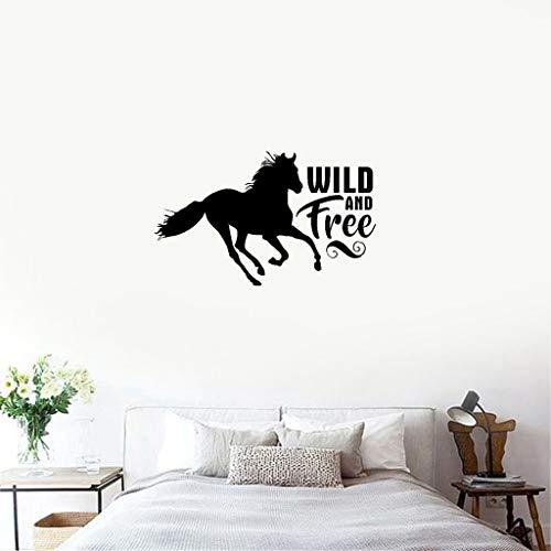 Wandtattoo Tier Pferd Wandaufkleber Zitate Wild And Free Home Decor Master für Wohnzimmer Schlafzimmer