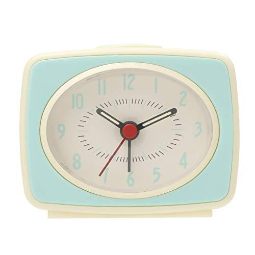 ZRL Despertadores Travel Wake Despertador Reloj Ascendente Beep Rocio Reloj DE Alarma DE Alarma DE PLÁSTICA Caja de Plástico Reloj Decorativo Sin Tictac para Niños Alarm Clock (Color : Green)