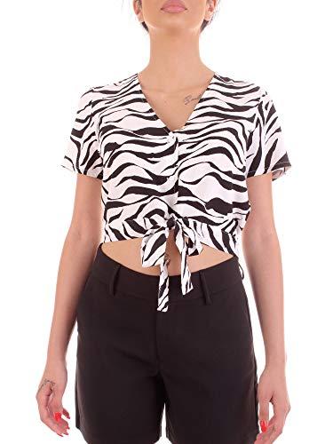 Vero Moda 10227841 Camisas Blusas Mujer Blanco Negro L