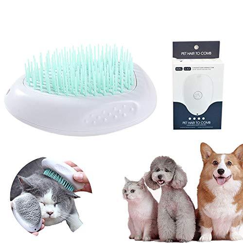 Hundebürste Katzenbürste,Selbstreinigende Katzenbürste,Weiche Katzenbürste,Fellpflege Katze Kurzhaar,Katzenbürste,Fellpflege Katze Bürste,Haustierkamm (Grün)