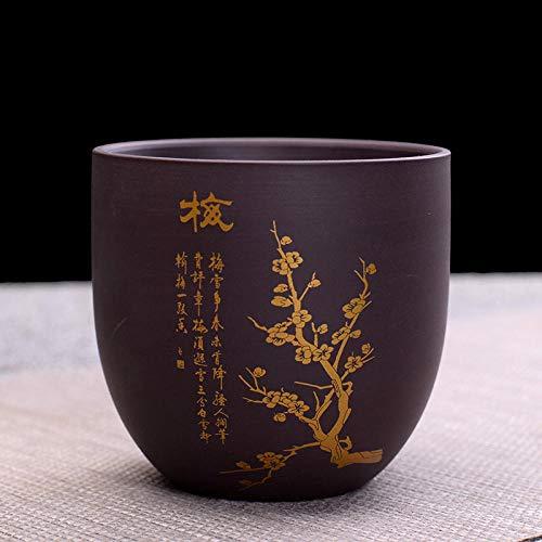 Ksnrang Mini latas de té de Arena púrpura, latas de Almacenamiento de té a Granel, Tazas de Despertador, los Regalos corporativos se Pueden Personalizar con el Logotipo-Taza de té de Ciruela (Oro)