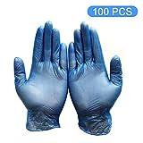 fesjoy 100 pz/lotto guanti monouso medico pulizia in lattice guanti alimentari universali domestici pulizia del giardino guanti pulizia della casa in gomma blu