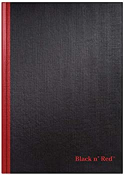 Black n' Red 96 Ruled Sheets Casebound Hardcover Notebook